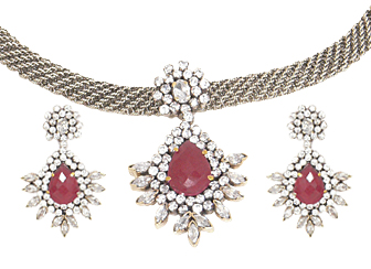Amazing Pink Victorian Jewelry Set